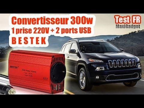 Test Bestek Convertisseur 300W avec Prise 220V et 2 ports USB