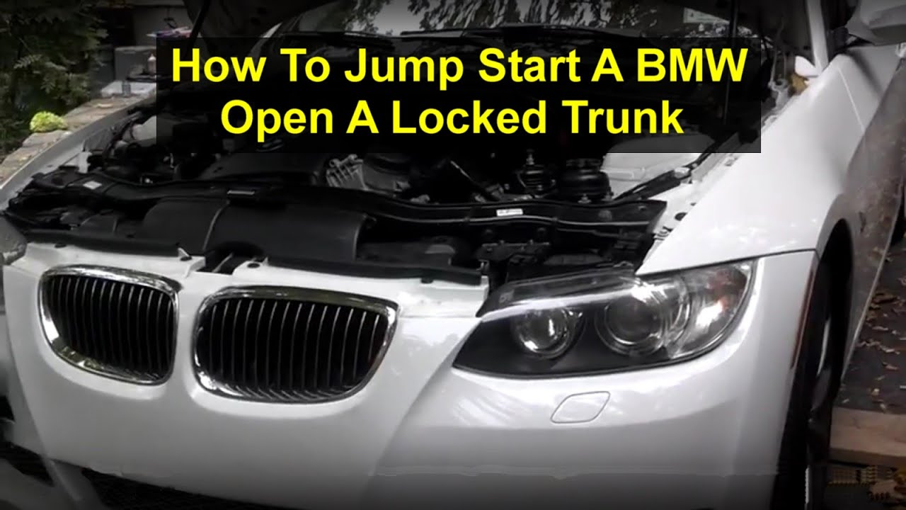 Where Are Bmw From >> How To Jump Start A Bmw E90 335i 328 Etc Votd Youtube