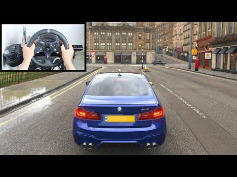 Forza Horizon 4 Driving Like A BOSS (Steering Wheel + Shifter) BMW M5 F90 Gameplay