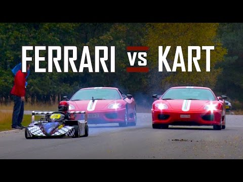FERRARI Vs GO KART - Chase - Battle In Top Gear - Challenge Stradale | V8 Sound | SCC TV