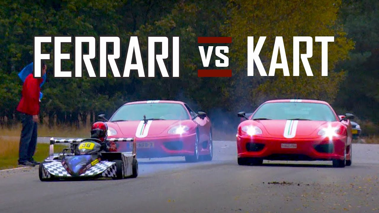 Ferrari Vs Go Kart Superkart Chase Battle In Top Gear Challenge Stradale V8 Sound Scc Tv