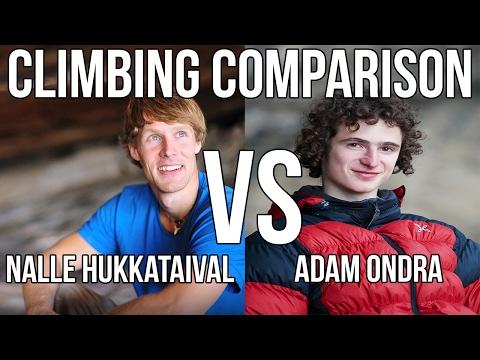 Adam Ondra vs Nalle Hukkataival - Climbing Comparison [Gioia]