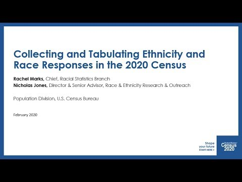 Collecting and Tabulating Ethnicity and Race Responses in the 2020 Census