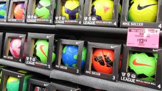 Getting a soccer ball at the Big 5 store