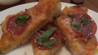 Cooking : Pepperoni & Cheese Flat Bread Pizza (2 Ingredient Dough Recipe)