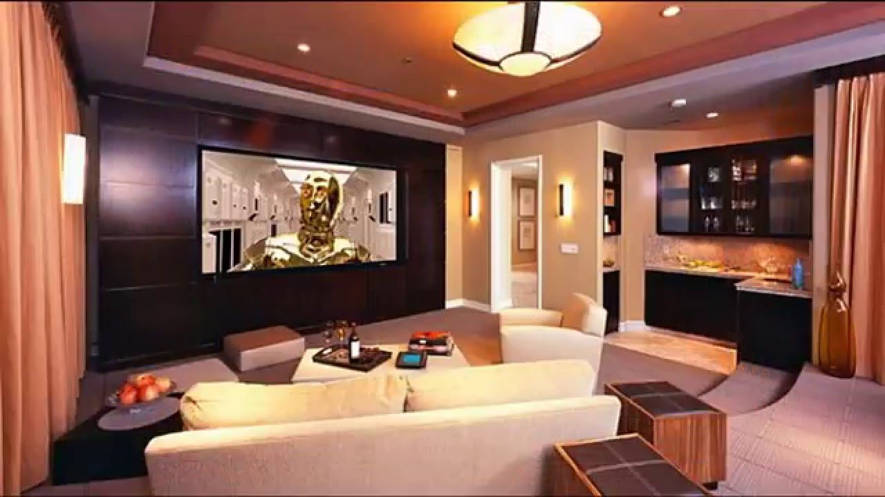 Modern Home theater room design - YouTube