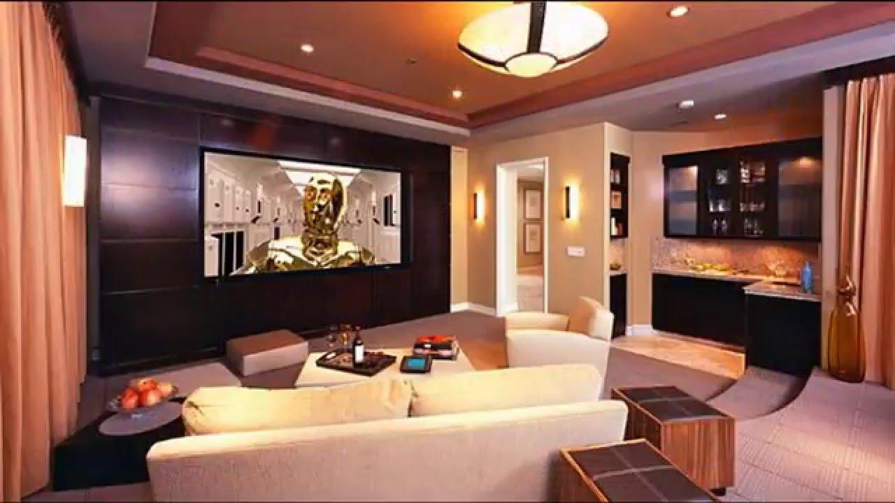 Modern Home theater room design - YouTube
