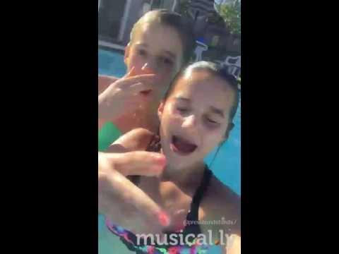 Annie musical.ly underwater