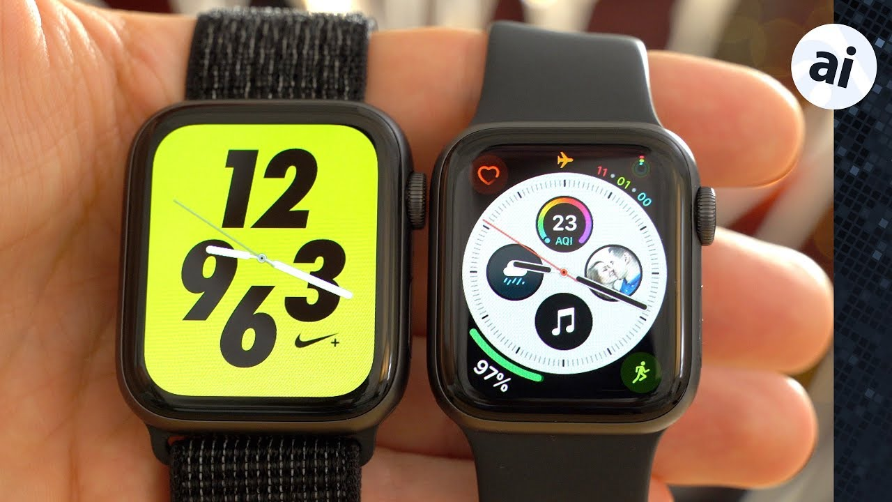 esponja Grabar Nebu  Should you buy the Nike+ or standard Apple Watch Series 4? - YouTube