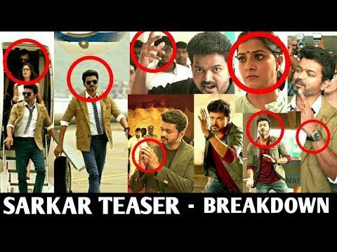 Sarkar Teaser | Breakdown | Thalapathy Vijay | AR Murugadoss | Sarkar Official Teaser | Sarkar
