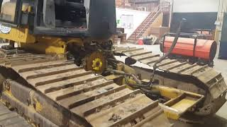 Heavy Equipment Engine Repair on Cat Bulldozer