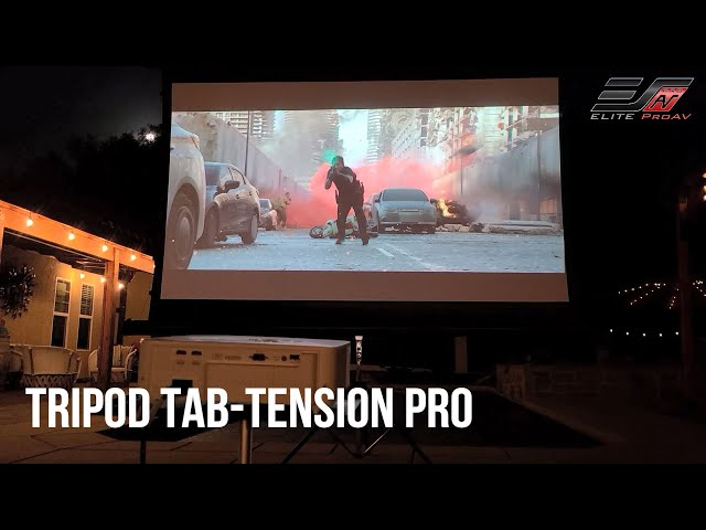 Elite ProAV's Tripod Tab-Tension Pro Reviewed by Joelster | Portable Free-Standing Projector Screen
