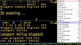11/23/17 AM Niagara County  Police & Fire Scanner Stream Fire Wire