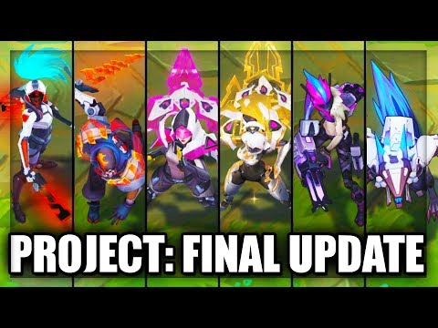 All New PROJECT Skins Final Update Pyke, Akali, Warwick, Irelia, Jinx (League of Legends)