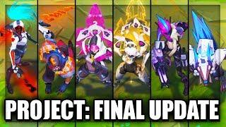 All New PROJECT Skins Final Update Pyke, Akali, Warwick, Irelia, Jinx (League of Legends)