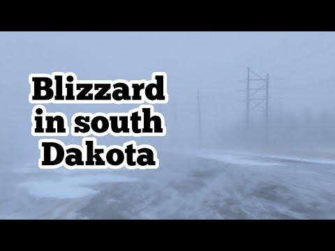 Blizzard in South  Dakota 23 Dec 2020 Snow storm