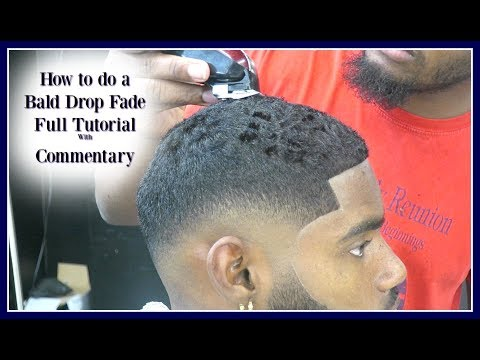 BARBER TUTORIAL: Bald Drop Fade HD : WILL SMITH edition w/ Commentary