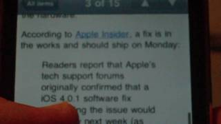 "Apple Software Update to Fix iPhone 4 ""Death Grip"" Issues"