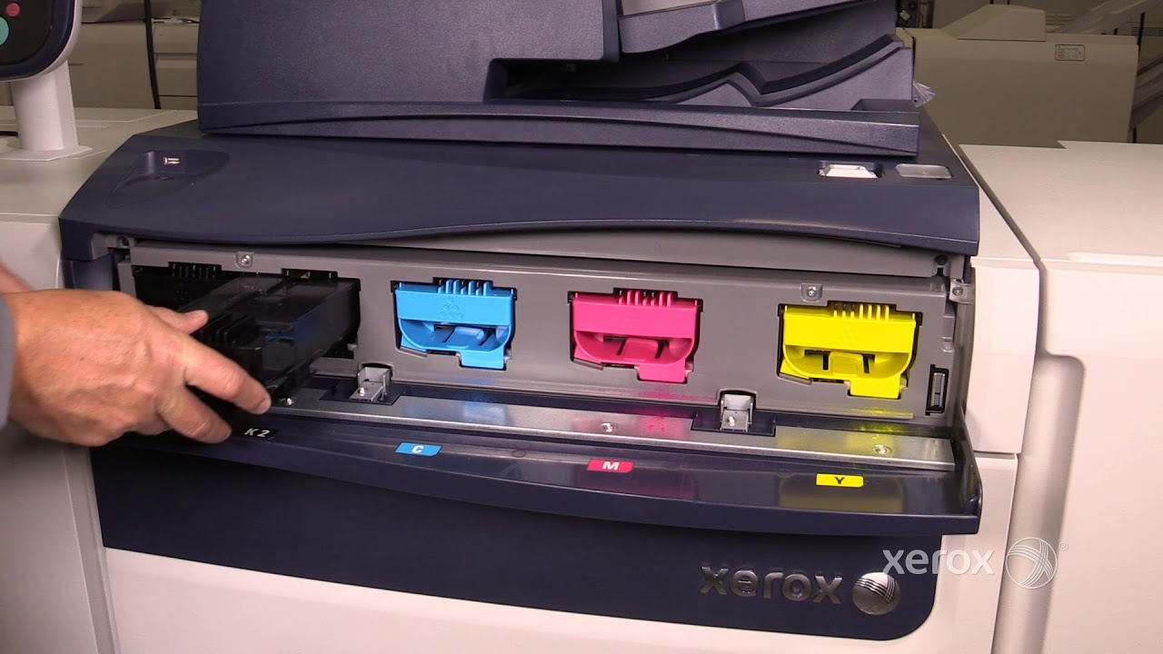 Xerox® Versant® 80 180 Color Press Replacing the Toner Cartridges