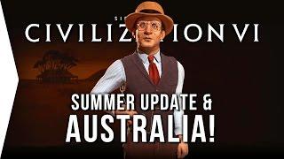 Civilization VI ► Australia Summer Update! - Steam Workshop, Mod Tools, & Multiplayer Teams in Civ 6