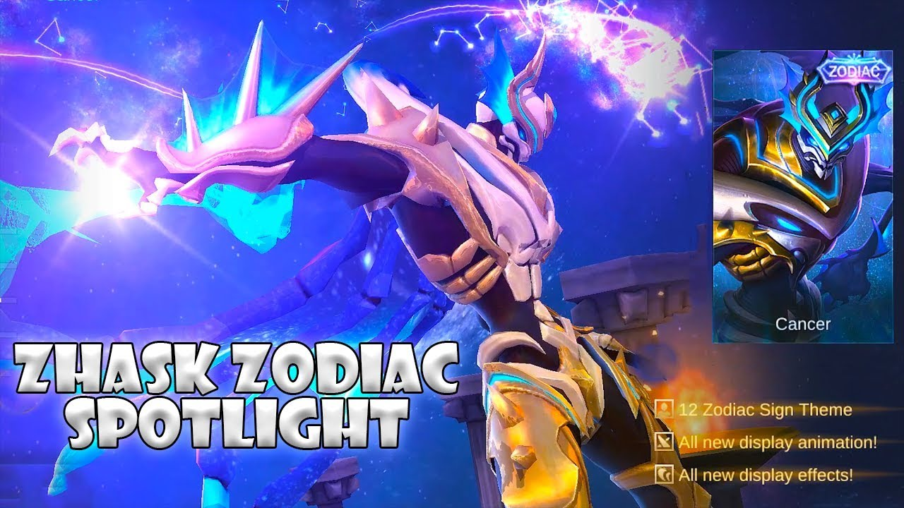 zhask | cancer zodiac skin spotlight | mobile legends:bang