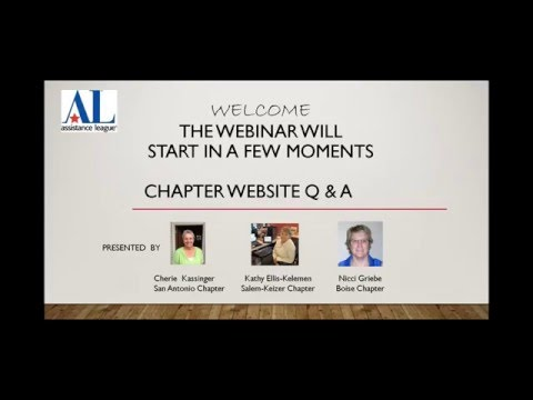 Feb 22 Welcome to Editing Your Chapter Website