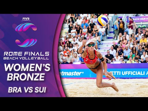 Women's Bronze: BRA Vs. SUI   Beach Volleyball World Tour Finals Rome 2019