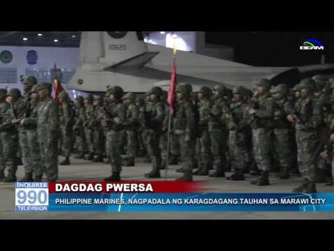 Philippine Marines, nagpadala ng karagdagang puwersa sa Marawi City