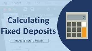calculating fixed deposit maturity amount 2 in excel in hindi