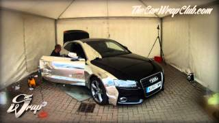 Audi A5 wrapped in chrome time-lapse