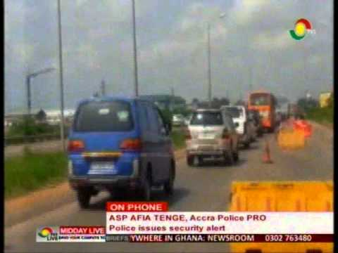 MiddayLive - Police issues security alert - ASP Afia Tenge on phone - 8/4/2016