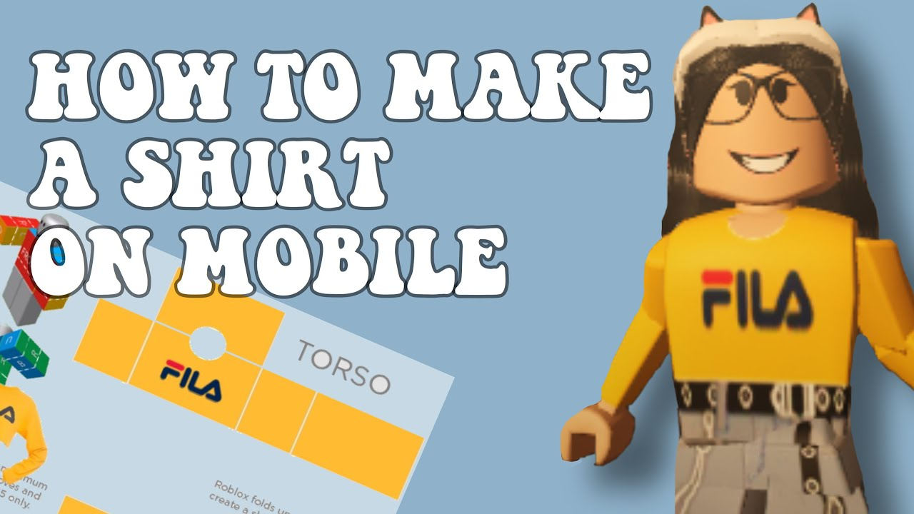 HOW TO MAKE A SHIRT ON ROBLOX MOBILE    12 EASY AND EXPLAINED