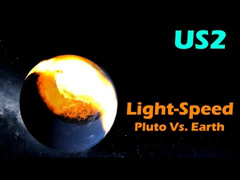 LIGHTSPEED PLUTO VS EARTH! - Universe Sandbox 2