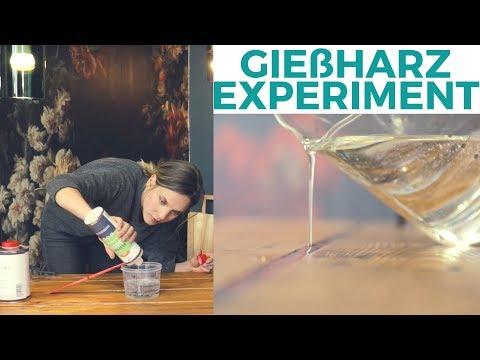 DIY Tisch mit Gießharz | Materialexperiment | Na ob das was wird!?