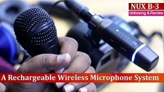 NUX B 3 ! A Rechargeable Wireless Microphone System for DSLR & Mixture Amplifiers