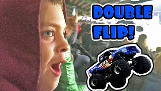 MONSTER TRUCK DOUBLE BACK FLIP!