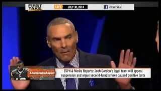 Josh Gordon Appeals WEEED Suspension!     ESPN First Take