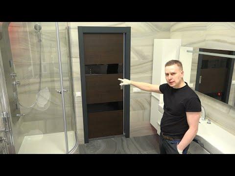 Установка Дверей Купе  с Автозакрытием в Тонких Стенах.