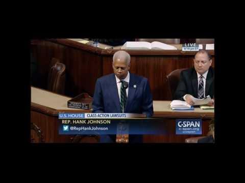 Rep. Hank Johnson opposes H.R.  985  Fairness in Class Action Litigation Act of 2017