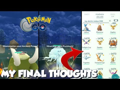 MY FINAL THOUGHTS ON THE TEMPEST CUP! Pokemon GO PvP Discussion thumbnail