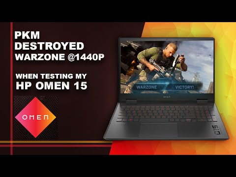 My HP Omen 15 Gaming Laptop review Wins Warzone 1440p with PKM LMG Gun Ryzen 7 4800H NVIDIA 2060