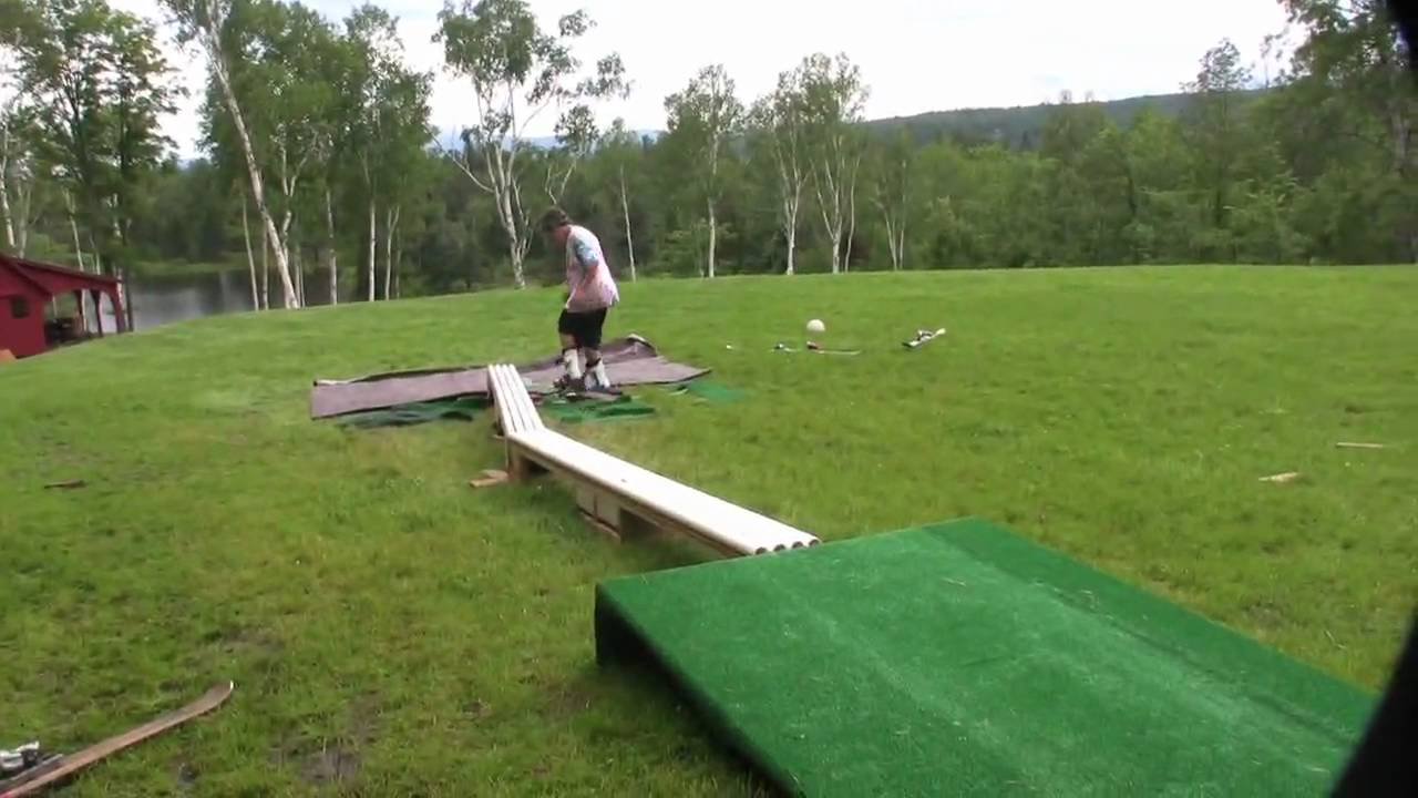 backyard summer skiing youtube