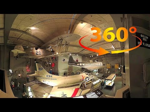 360 / VR 4K The National Air & Space Museum Tour w/ Spatial Audio - Washington DC - Part 1 of 4