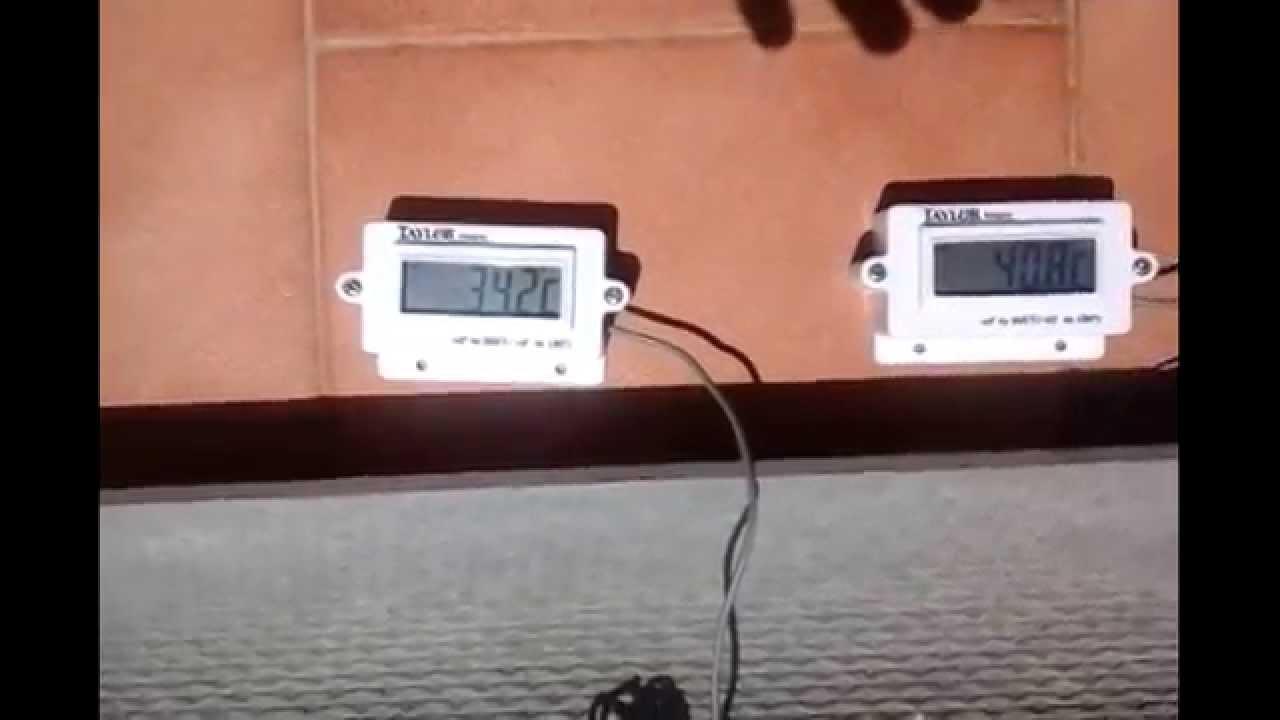 Aislante t rmico sobre uralita pruebas de temperatura - Caucho para tejados ...