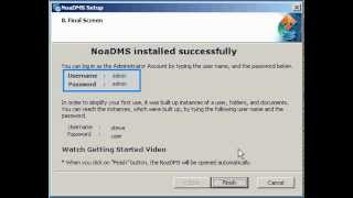 How To Setup NoaDMS