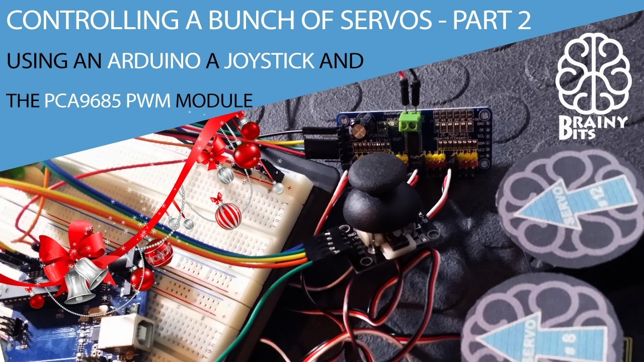 Control a 'LOT' of Servo Motors using a Joystick, Arduino and