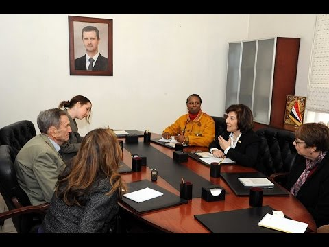 Syria News 26/2/2015, US activists, led by former U.S. Attorney General Ramsey Clark visit Syria