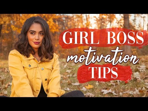 8  GIRL BOSS MOTIVATION TIPS FOR SUCCESS // HOW TO STAY MOTIVATED ♡