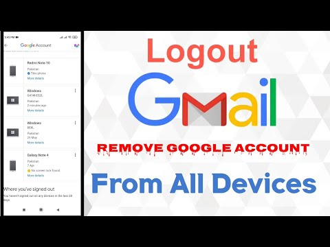 How To Logout Google Account From All Devices