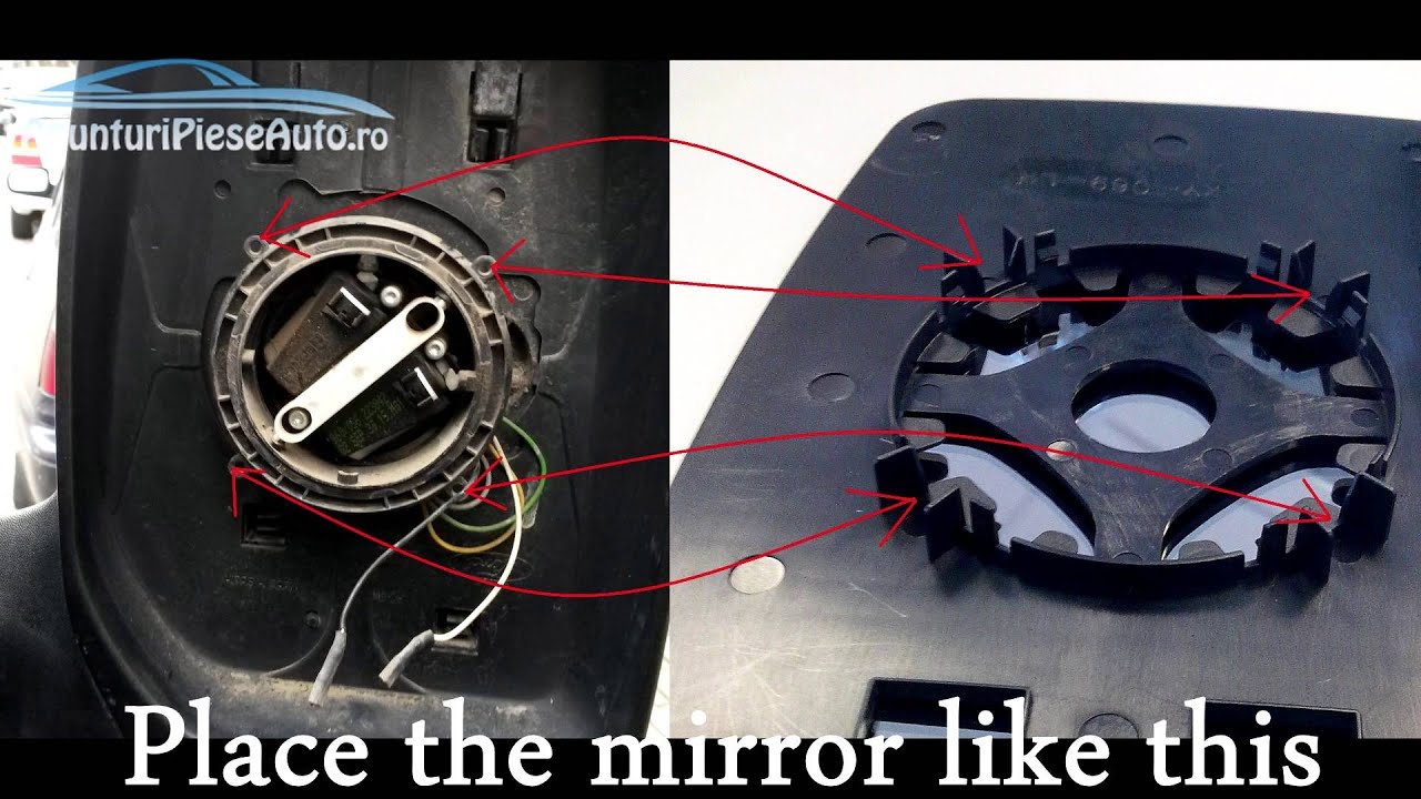 ford focus wing mirror replacement instructions